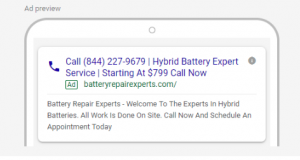 Call-only ad